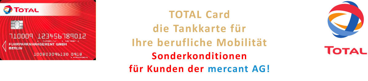 TOTAL Card – SOnderkonditionen für mercant-Kunden
