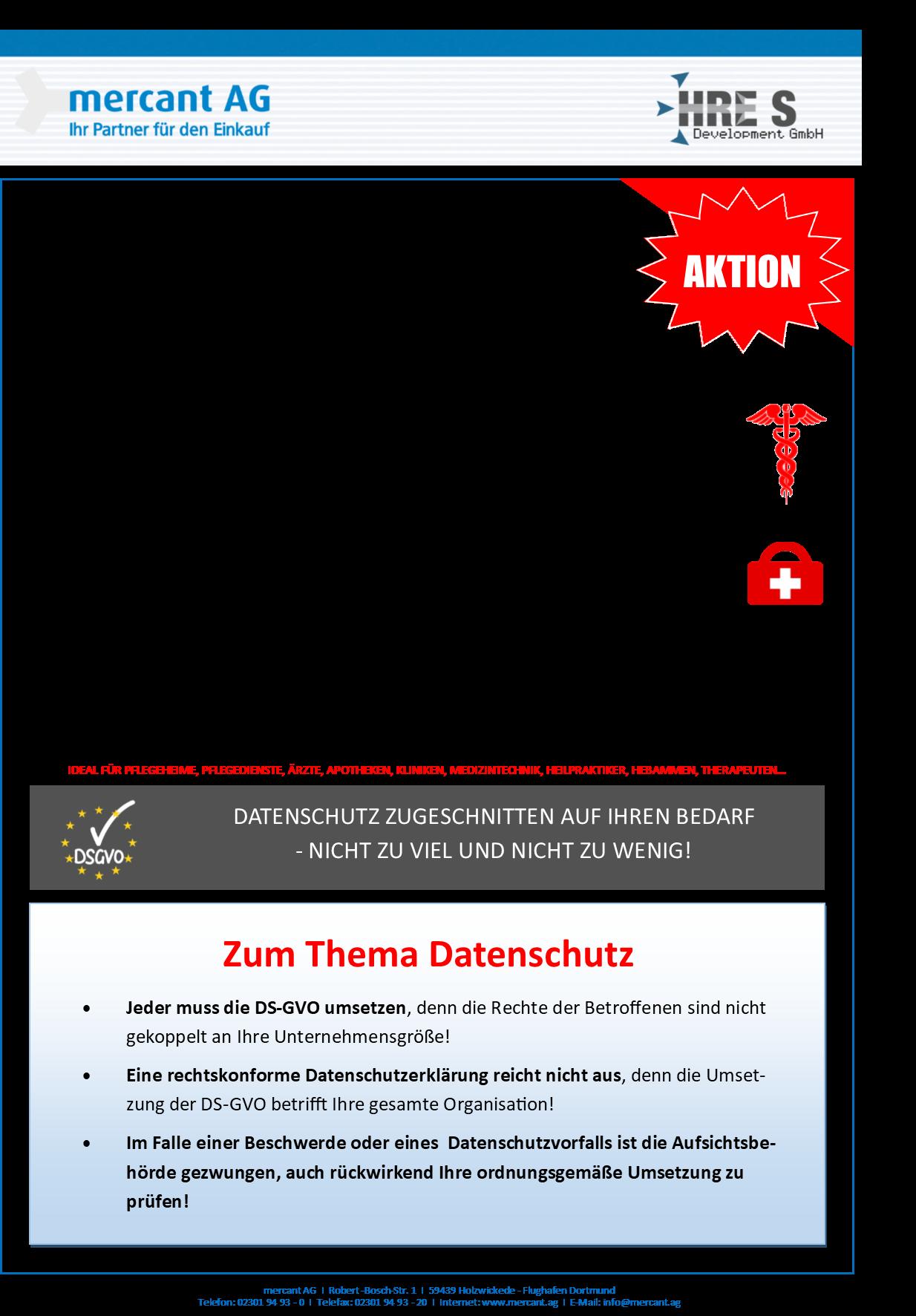 Infografik zu unseren Dienstleistungen zum Thema Datenschutz