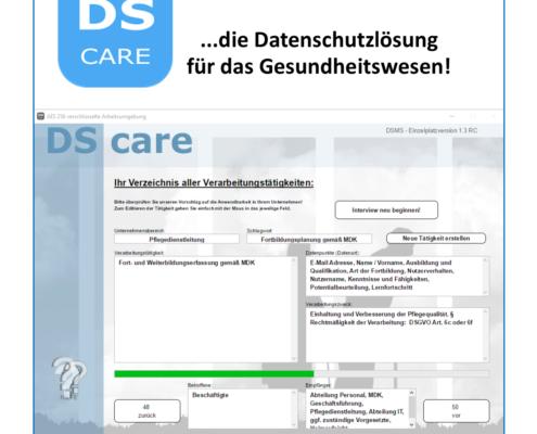 Screenshot Datenschutz Softwarelösung
